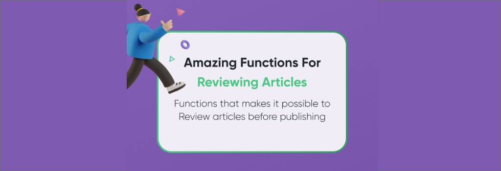 Journal Research Publication - Reviewer Functions